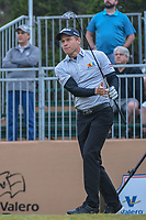 Peter Malnati (USA) watches his tee shot on 10 during Round 3 of the Valero Texas Open, AT&amp;T Oaks Course, TPC San Antonio, San Antonio, Texas, USA. 4/21/2018.<br /> Picture: Golffile   Ken Murray<br /> <br /> <br /> All photo usage must carry mandatory copyright credit (&copy; Golffile   Ken Murray)