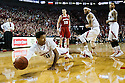 March 9, 2014: Shavon Shields (31) of the Nebraska Cornhuskers dives to save the ball during the first half against the Wisconsin Badgers at the Pinnacle Bank Arena, Lincoln, NE. Nebraska 77 Wisconsin 68.