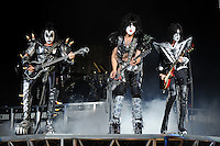 ALBUQUERQUE NM - AUGUST 7:  Gene Simmons, Paul Stanley and Tommy Thayer of Kiss perform at the Hard Rock Casino Albuquerque on August 7, 2012 in Albuquerque, New Mexico. /NortePhoto.com<br /> <br />  **CREDITO*OBLIGATORIO** *No*Venta*A*Terceros*<br /> *No*Sale*So*third* ***No*Se*Permite*Hacer Archivo***No*Sale*So*third*