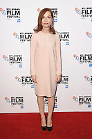 "Isabelle Huppert<br /> at the London Film Festival premiere for ""Elle"" at the Embankment Gardens Cinema, London.<br /> <br /> <br /> ©Ash Knotek  D3165  08/10/2016"