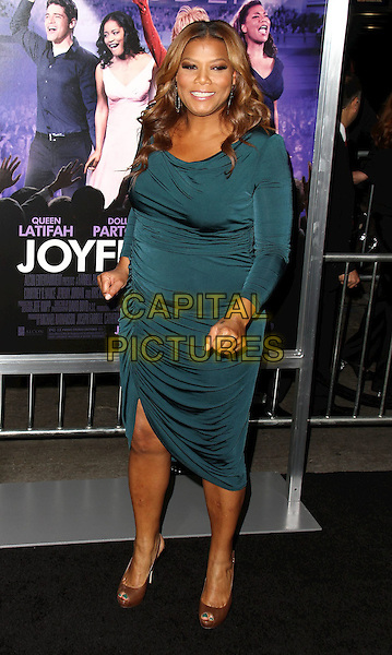 "Queen Latifah.""Joyful Noise"" Los Angeles Premiere held at Grauman's Chinese Theatre, Hollywood, California, USA..January 9th, 2012.full length dress green blue teal  .CAP/ADM/CH.©Charles Harris/AdMedia/Capital Pictures"