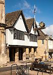 Historic town hall market place, Burford, Oxfordshire, England, UK