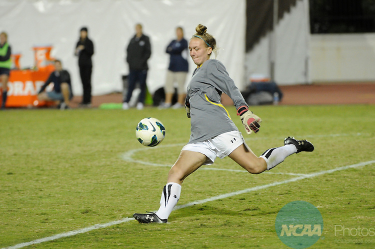 4 NOV 2014: Colorado College takes on Utah State University during the 2014 Mountain West Women's Soccer Championship held at San Diego State University Sports Deck in San Diego, CA. Scott Wachter/NCAA Photos