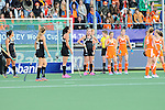 The Hague, Netherlands, June 05: During the field hockey group match (Women - Group A) between New Zealand and The Netherlands on June 5, 2014 during the World Cup 2014 at Kyocera Stadium in The Hague, Netherlands. Final score 0-2 (0-2) (Photo by Dirk Markgraf / www.265-images.com) *** Local caption ***