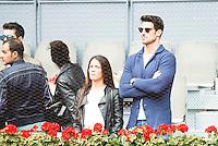 AItor Ocio and his girlfriend during Mutua Madrid Open Tennis 2016 in Madrid, May 07, 2016. (ALTERPHOTOS/BorjaB.Hojas) /NortePhoto.com