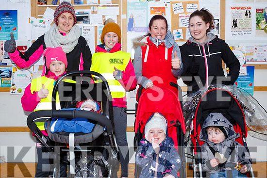 Attending the Garvey Supervalu store in Castleisland on their Operation Transformation walk on Saturday morning last, standing, l-r, Margaret Fitzgerald, Laura O&rsquo;Donoghue, Sienna Murphy and Rachel Hanrahan.<br /> Front l-r, Rachel O&rsquo;Donoghue, Baby Tiath O&rsquo;Donoghue,  Clare Fitzgerald and Jack Flynn.