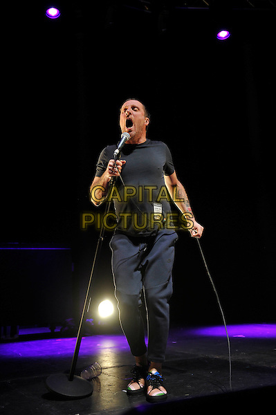 LONDON, ENGLAND - NOVEMBER 10: Jason Williamson of 'Sleaford Mods' performing at Camden Roundhouse on November 10, 2016 in London, England.<br /> CAP/MAR<br /> &copy;MAR/Capital Pictures