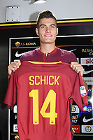 New AS Roma player Patrik Schick  <br /> Campionato Italiano Calcio Serie A 2017/2018<br /> Roma 30-08-2017  <br /> Press Conference - Conferenza Stampa <br /> Foto Gino Mancini/Insidefoto