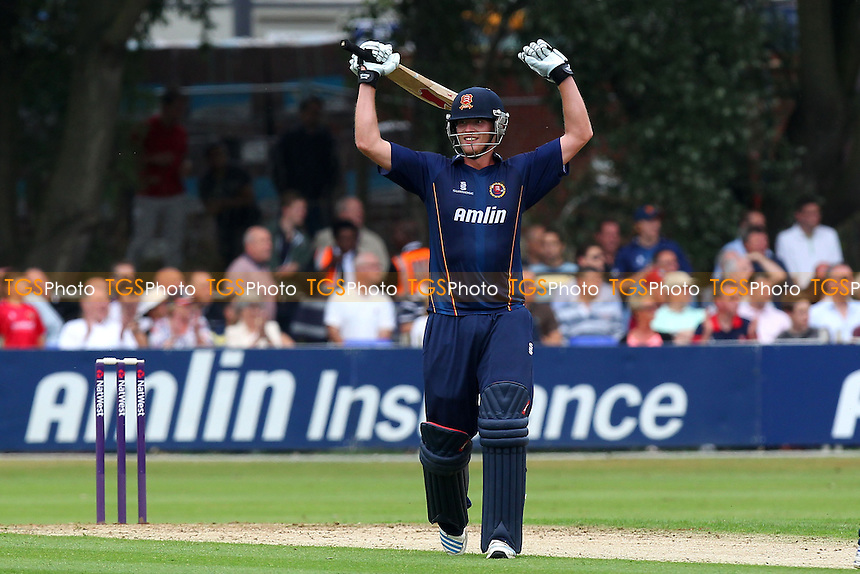 Tom Westley of Essex celebrates his century, 100 runs - Essex Eagles vs Kent Spitfires - NatWest T20 Blast Cricket at Castle Park, Colchester, Essex - 12/07/14 - MANDATORY CREDIT: Gavin Ellis/TGSPHOTO - Self billing applies where appropriate - contact@tgsphoto.co.uk - NO UNPAID USE
