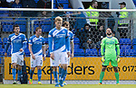 St Johnstone v Aberdeen&hellip;15.04.17     SPFL    McDiarmid Park<br />Alan Mannus recats after Tam Scobbies own goal<br />Picture by Graeme Hart.<br />Copyright Perthshire Picture Agency<br />Tel: 01738 623350  Mobile: 07990 594431