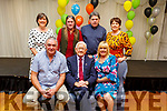 Liam Shanahan celebrating his 90th birthday with his sons and daughters in the Rose Hotel on Saturday.<br /> Front l to r: Mike and Liam Shanahan and Geraldine Kenny. <br /> Back l to r: Angela, Kieran, Brendan and Juliette Shanahan.