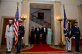 United States President Donald J. Trump and First Lady Melania Trump welcome Australian Prime Minister Scott Morrison and Mrs. Morrison to the White House in Washington for a state dinner September 20, 2019. <br /> Credit: Tasos Katopodis / Pool via CNP