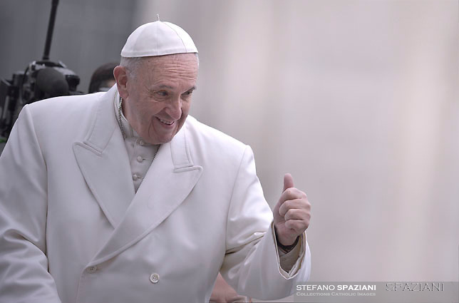 Pope Francis during of a weekly general audience at St Peter's square in Vatican. February 22, 2017