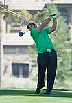 August 3, 2012: Patrick Reed from Houston, Texas tees off on the 13th hole during the second round of the 2012 Reno-Tahoe Open Golf Tournament at Montreux Golf & Country Club in Reno, Nevada.