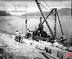 Frederick Stone negative Wigwam Reservoir & upper of Morris Dam, 'New Branch' dam 1910.