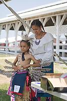 Getting dressed for the Nanticoke Lenni-Lenapi Indian Pow Wow