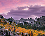 An image of fall colors in the Sierra mountains above South Lake, CA.