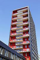 Nederland  Utrecht . Studentenwoningen op het Utrechtse universiteitsterrein De Uithof.
