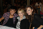"""As The World Turns Eileen Fulton """"Lisa"""" poses with Telly Leung (Glee) and Laura Osnes (Anything Goes) and won Grease contest as they attend the 25th Annual Broadway Flea Market & Grand Auction to benefit Broadway Cares/Equity Fights Aids on September 25, 2011 in New York CIty, New York.  (Photo by Sue Coflin/Max Photos)"""