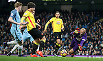 Heurelho Gomes of Watford makes a save during the English Premier League match at The Etihad Stadium, Manchester. Picture date: December 12th, 2016. Photo credit should read: Lynne Cameron/Sportimage