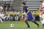 30 August 2013: Duke's Sean Davis. The Duke University Blue Devils hosted the Rutgers University Scarlet Knights at Koskinen Stadium in Durham, NC in a 2013 NCAA Division I Men's Soccer match. The game ended in a 1-1 tie after two overtimes.