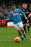 Napoli's Lorenzo Insigne  during the  italian serie a soccer match,between SSC Napoli and Empoli      at  the San  Paolo   stadium in Naples  Italy , January 31, 2016