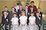 Children from Killury and Drumnacurra National Schools pictured at their First Holy Communion on Saturday at St. John the Baptist Church, Causeway on Saturday. Front l/r Sean Sheahan, Erica Diggins, Michaela Barrett, Norah Leen and Cody Griffin. Middle row l/r Aidan Lane, Dean Fitzpatrick, Darragh Leahy, Jason Goggin, Leon O'Connor and Dylan Murphy. Back l/r teachers Mary O'Connor and Mary Barry...................................................................................................................................................................................................................................................................................................................... ............