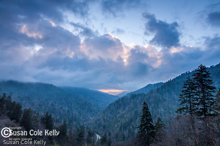 Sunset at Morton's Overlook, Great Smoky Mountains National Park, Tennesee, USA