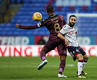 Bolton Wanderers' Erhun Oztumer competing with Swansea City's Leroy Fer<br /> <br /> Photographer Andrew Kearns/CameraSport<br /> <br /> The EFL Sky Bet Championship - Bolton Wanderers v Swansea City - Saturday 10th November 2018 - University of Bolton Stadium - Bolton<br /> <br /> World Copyright © 2018 CameraSport. All rights reserved. 43 Linden Ave. Countesthorpe. Leicester. England. LE8 5PG - Tel: +44 (0) 116 277 4147 - admin@camerasport.com - www.camerasport.com