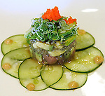 A tuna and avocado salad is plated.  (DOUG WOJCIK/STEVENS POINT JOURNAL)