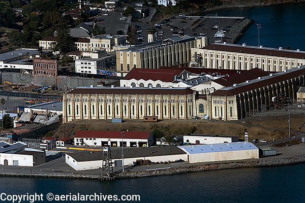 aerial photograph San Quentin prison Marin County, California