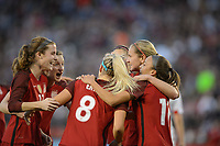 San Diego, Ca - Sunday, January 21, 2018: Tierna Davidson Andi Sullivan Julie Ertz during a USWNT 5-1 victory over Denmark at SDCCU Stadium.