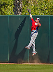 7 March 2013: Washington Nationals outfielder Corey Brown is unable to pull in a fly to right field during a Spring Training game against the Houston Astros at Osceola County Stadium in Kissimmee, Florida. The Astros defeated the Nationals 4-2 in Grapefruit League play. Mandatory Credit: Ed Wolfstein Photo *** RAW (NEF) Image File Available ***
