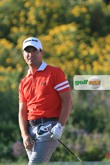 Steve Webster (ENG) on the 18th tee on Day 2 of the 2012 Sicilian Open at Verdura Golf and Spa Resort, Sicily, Italy....(Photo Jenny Matthews/www.golffile.ie)