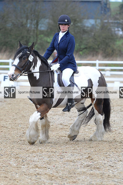 Class 3. Novice 28. Team Dressage. Brook Farm Training Centre. Essex. 13/02/2016. MANDATORY Credit Ellie Ingram/Sportinpictures - NO UNAUTHORISED USE - 07837 394578