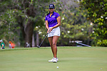 HOWEY IN THE HILLS, FL - MAY 11: Navika Kuchakulla of New York University putts during team competition at the Division III Women's Golf Championship. Kuchakulla would go on to finish second place overall in Individual play with a score of +14 over par. The Claremont Mudd Scripps won both the team and individual (Margaret Loncki) First Place Championships during the Division III Women's Golf Championship held at the Mission Inn Resort & Club on May 11, 2018 in Howey-In-The-Hills, Florida. (Photo by Matt Marriott/NCAA Photos via Getty Images)