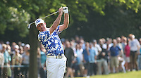 Scott Hend (AUS) hits his ball left to the 17th during Round Three of the 2016 BMW PGA Championship over the West Course at Wentworth, Virginia Water, London. 28/05/2016. Picture: Golffile   David Lloyd. <br /> <br /> All photo usage must display a mandatory copyright credit to © Golffile   David Lloyd.