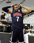 USA's Russell Westbrook during training session.July 23,2012(ALTERPHOTOS/Acero)