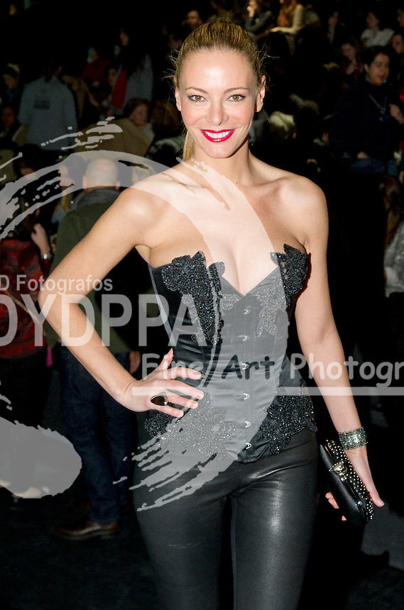 Spanish Model and TV Conducter Paula Vazquezat Maya Hansen Show wearing a Maya Hansen´s creation during the Mercedes Benz Fashion week Madrid on February  4, 2011. Photo by Eduardo Dieguez/ DyD Fotografos-DYDPPA
