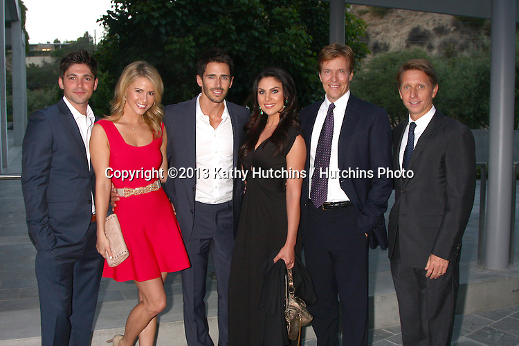 LOS ANGELES - JUN 15:  Robert Adamson, Linsey Godfrey, Brandon Beemer, Nadia Bjorlin, Jack Wagner, Brad Bell attends The Leukemia & Lymphoma Society 2013 Man & Woman of the Year Gala at the Skirball Cultural Center on June 15, 2013 in Los Angeles, CA