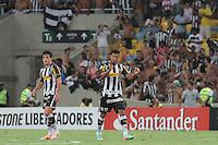 RIO DE JANEIRO, RJ, 05.02.2014 - Wallyson do Botafogo comemora seu gol durante o jogo desta noite pela Libertadores contra Deportivo Quito no Estádio Mário Filho, o Maracanã. (Foto. Néstor J. Beremblum / Brazil Photo Press)