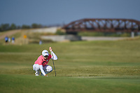 Eun-Hee Ji (KOR) looks over her putt on 2 during the round 3 of the Volunteers of America Texas Classic, the Old American Golf Club, The Colony, Texas, USA. 10/5/2019.<br /> Picture: Golffile   Ken Murray<br /> <br /> <br /> All photo usage must carry mandatory copyright credit (© Golffile   Ken Murray)