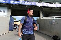 Issac Luke arrives. Sydney Roosters v Vodafone Warriors, NRL Rugby League. Allianz Stadium, Sydney, Australia. 31st March 2018. Copyright Photo: David Neilson / www.photosport.nz