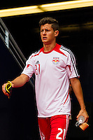 Ruben Bover (21) of the New York Red Bulls. The New York Red Bulls defeated the Houston Dynamo 2-0 during a Major League Soccer (MLS) match at Red Bull Arena in Harrison, NJ, on June 30, 2013.