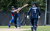 Cricket Scotland - Scotland V Namibia World Cricket League One-Day match today (Sun) at Grange CC - Scotland bat Richie Berrington hits out on his way to making 110, which included a 101 run partnership with Preston Mommsen - this match is the first of two WCL games this week against Namibia on the same ground - picture by Donald MacLeod - 11.06.2017 - 07702 319 738 - clanmacleod@btinternet.com - www.donald-macleod.com