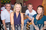 Testing Teachers - Staff from Causeway Comprehensive having a great night out at the pub quiz in aid of Timothy O'Brien from Kilmoyley who is in Beaumont Hospital held in An Tocher Ban on Friday night were l/r Johnnt Griffin, Gillian Ronayne Dowling, Michael Meehan and Mary Ellen O'Keefe.