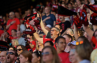 Portland, OR - Saturday May 27, 2017: Thorns Supporters during a regular season National Women's Soccer League (NWSL) match between the Portland Thorns FC and the Boston Breakers at Providence Park.