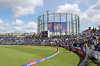 A general view of the Oval with the Landmark Gas Tower adorned with logo during India vs Australia, ICC World Cup Cricket at The Oval on 9th June 2019