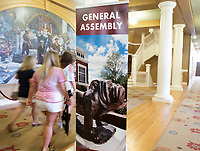 Orientation 2018: Lee Hall hallway outside General Assembly.<br />  (photo by Megan Bean / &copy; Mississippi State University)