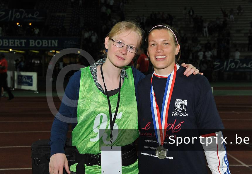 Football Club Feminin Juvisy Essonne - Olympique Lyon :.Joke Vuylsteke - Lara Dickenmann.foto DAVID CATRY / JOKE VUYLSTEKE / Vrouwenteam.be